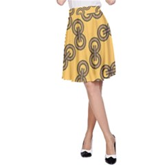 Abstract Shapes Links Design A Line Skirt