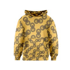 Abstract Shapes Links Design Kids  Pullover Hoodie
