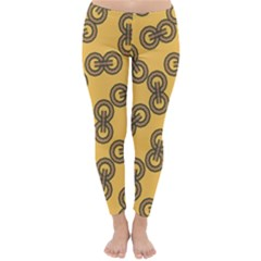 Abstract Shapes Links Design Classic Winter Leggings