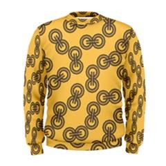Abstract Shapes Links Design Men s Sweatshirt
