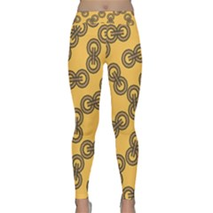 Abstract Shapes Links Design Classic Yoga Leggings