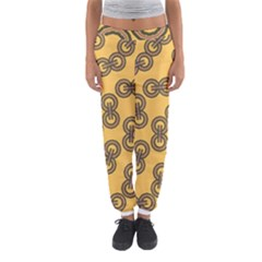 Abstract Shapes Links Design Women s Jogger Sweatpants