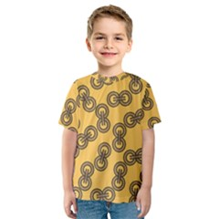 Abstract Shapes Links Design Kids  Sport Mesh Tee