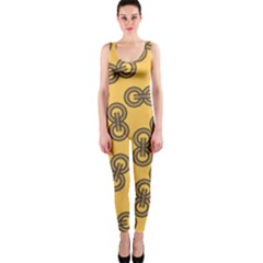 Abstract Shapes Links Design Onepiece Catsuit