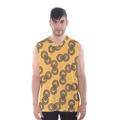 Abstract Shapes Links Design Men s Basketball Tank Top
