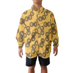 Abstract Shapes Links Design Wind Breaker (Kids)