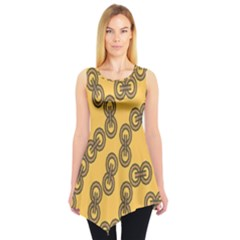 Abstract Shapes Links Design Sleeveless Tunic