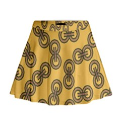 Abstract Shapes Links Design Mini Flare Skirt