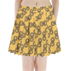 Abstract Shapes Links Design Pleated Mini Skirt