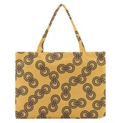 Abstract Shapes Links Design Medium Zipper Tote Bag