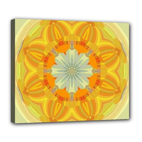 Sunshine Sunny Sun Abstract Yellow Deluxe Canvas 24  X 20