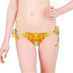 Sunshine Sunny Sun Abstract Yellow Bikini Bottom