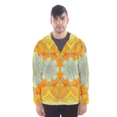 Sunshine Sunny Sun Abstract Yellow Hooded Wind Breaker (men)