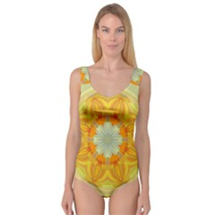 Sunshine Sunny Sun Abstract Yellow Princess Tank Leotard