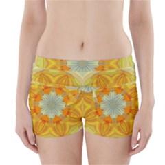 Sunshine Sunny Sun Abstract Yellow Boyleg Bikini Wrap Bottoms