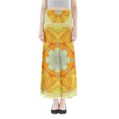 Sunshine Sunny Sun Abstract Yellow Maxi Skirts