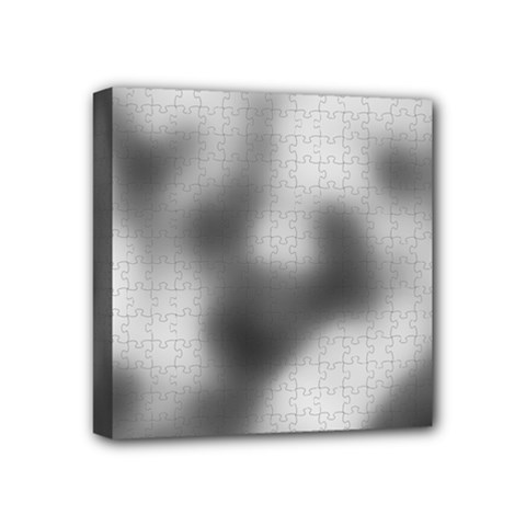 Puzzle Grey Puzzle Piece Drawing Mini Canvas 4  X 4