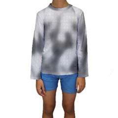Puzzle Grey Puzzle Piece Drawing Kids  Long Sleeve Swimwear