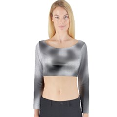 Puzzle Grey Puzzle Piece Drawing Long Sleeve Crop Top