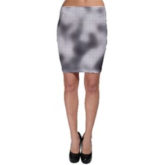Puzzle Grey Puzzle Piece Drawing Bodycon Skirt