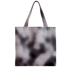Puzzle Grey Puzzle Piece Drawing Zipper Grocery Tote Bag