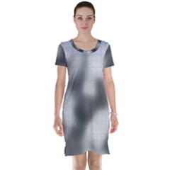Puzzle Grey Puzzle Piece Drawing Short Sleeve Nightdress