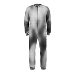 Puzzle Grey Puzzle Piece Drawing OnePiece Jumpsuit (Kids)