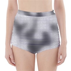 Puzzle Grey Puzzle Piece Drawing High-Waisted Bikini Bottoms