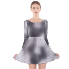 Puzzle Grey Puzzle Piece Drawing Long Sleeve Velvet Skater Dress