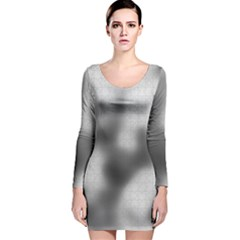 Puzzle Grey Puzzle Piece Drawing Long Sleeve Velvet Bodycon Dress