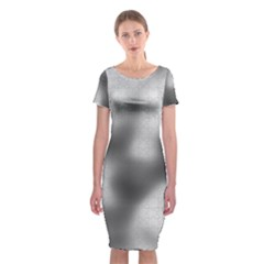 Puzzle Grey Puzzle Piece Drawing Classic Short Sleeve Midi Dress