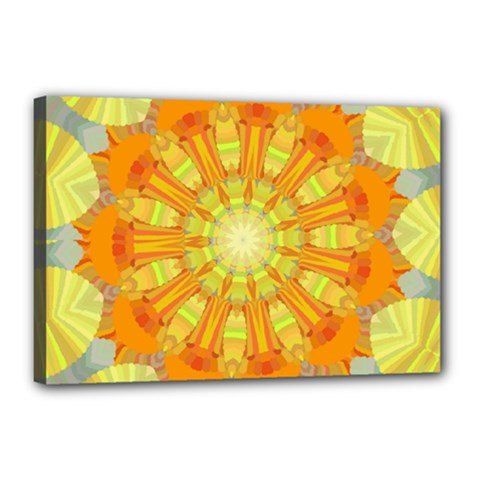 Sunshine Sunny Sun Abstract Yellow Canvas 18  X 12