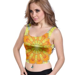 Sunshine Sunny Sun Abstract Yellow Crop Top