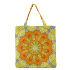 Sunshine Sunny Sun Abstract Yellow Grocery Tote Bag
