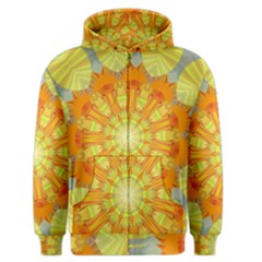 Sunshine Sunny Sun Abstract Yellow Men s Zipper Hoodie