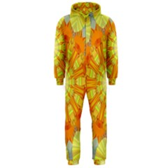 Sunshine Sunny Sun Abstract Yellow Hooded Jumpsuit (men)