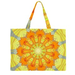 Sunshine Sunny Sun Abstract Yellow Large Tote Bag