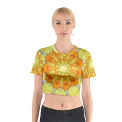 Sunshine Sunny Sun Abstract Yellow Cotton Crop Top