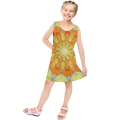 Sunshine Sunny Sun Abstract Yellow Kids  Tunic Dress