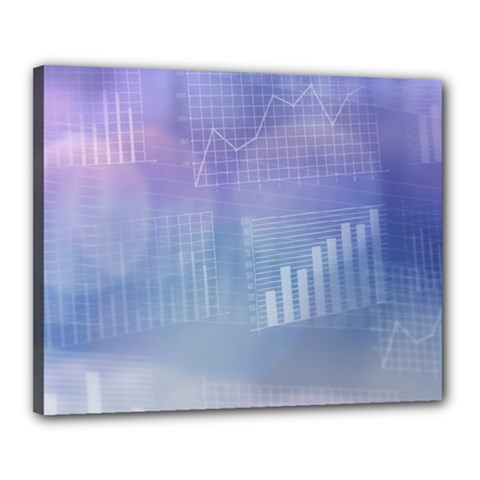 Business Background Blue Corporate Canvas 20  x 16