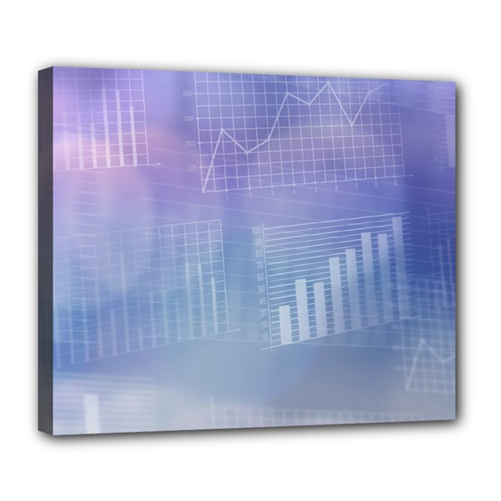 Business Background Blue Corporate Deluxe Canvas 24  x 20