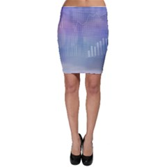 Business Background Blue Corporate Bodycon Skirt