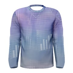 Business Background Blue Corporate Men s Long Sleeve Tee