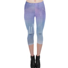 Business Background Blue Corporate Capri Leggings