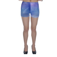 Business Background Blue Corporate Skinny Shorts