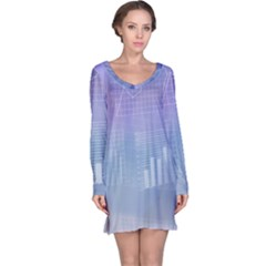 Business Background Blue Corporate Long Sleeve Nightdress