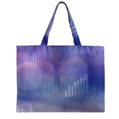Business Background Blue Corporate Zipper Mini Tote Bag