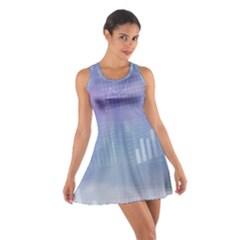 Business Background Blue Corporate Cotton Racerback Dress