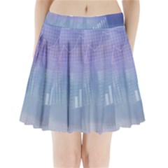 Business Background Blue Corporate Pleated Mini Skirt