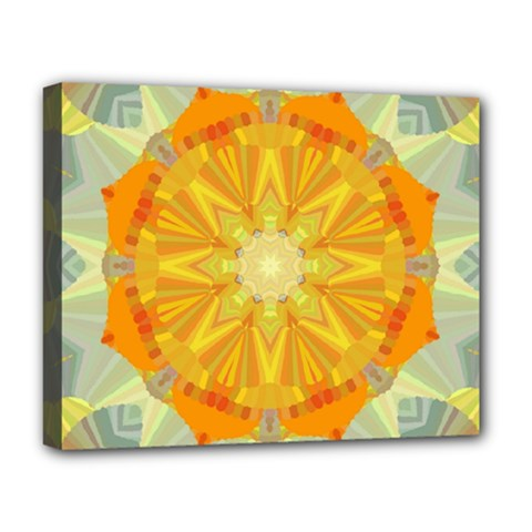 Sunshine Sunny Sun Abstract Yellow Deluxe Canvas 20  x 16